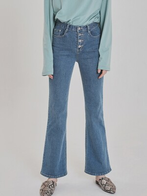 SEMI BOOTCUT STRAIGHT DENIM PANTS