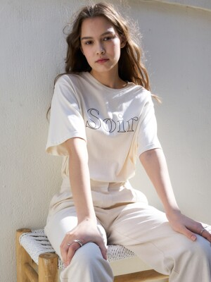 LB SOIR T-SHIRT(CREAM)