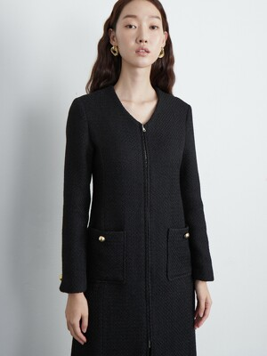 Tweed one-piece coat