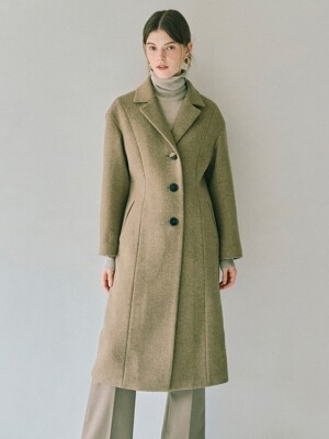 Silhouette Coat in Beige