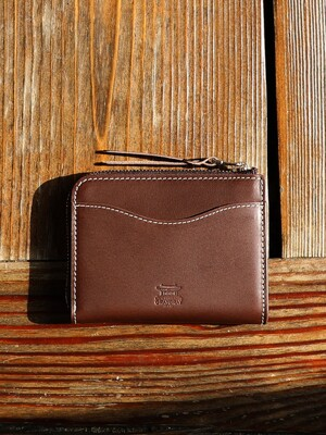 Italian Vegetable Darak Zipper Card Wallet Choco