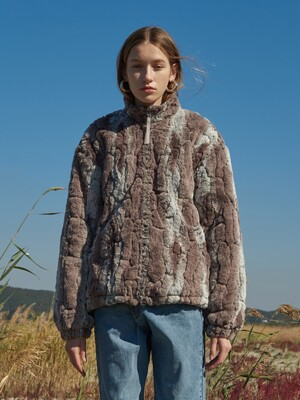 FAUX FUR FLEECE (BROWN)