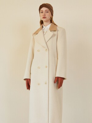 COLOURWAY WOOL COAT (ivory)