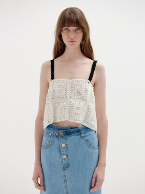 SPEN Handmade Lettered Knit Top - White