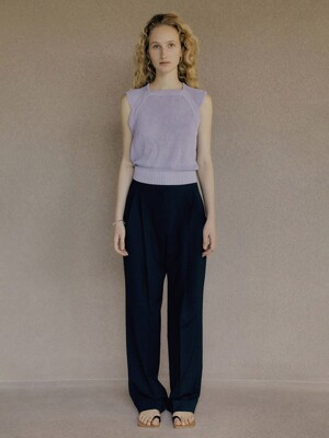 21SS  ICE LINEN SLEEVELESS KNIT - VIOLET