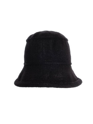 AGSS OG KNIT BUCKET HAT - BLACK