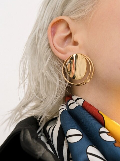 Full Moon Earrings_gold