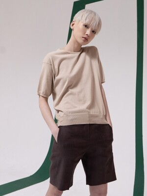 DARK BROWN SUMMER HALF PANTS