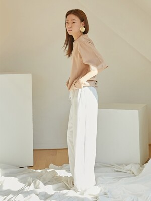Comfort wide pants_Ivory