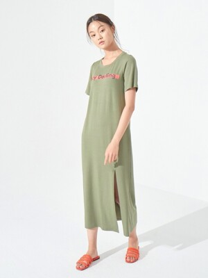 LAZY DARLING ONE-PIECE (KHAKI)
