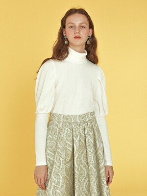 Puff Sleeve Top _ Ivory