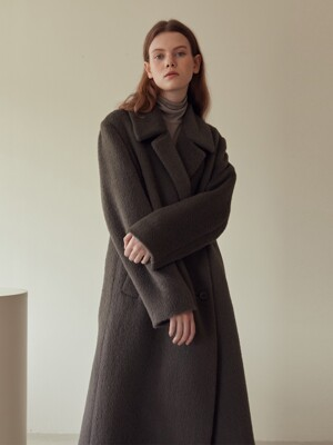 19W ALPACA LONG COAT (CHARCOAL)