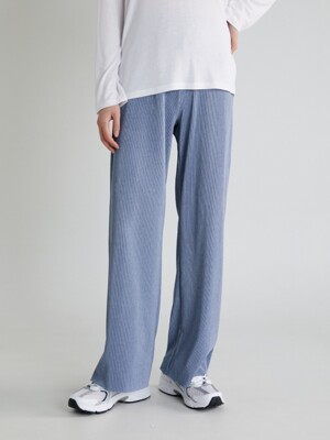 20S PLEATS BANDING PANTS (BLUE)