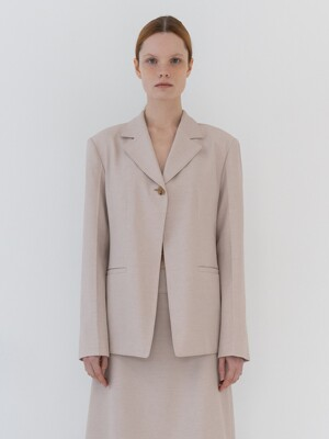 One button Jacket [Beige]