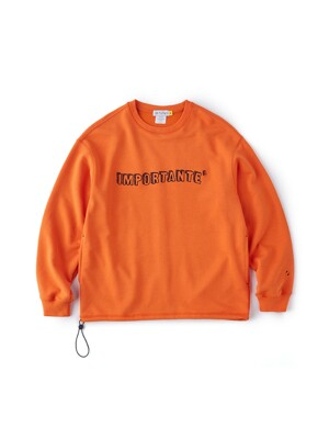 Crew Neck Sweat Shirt (Orange)