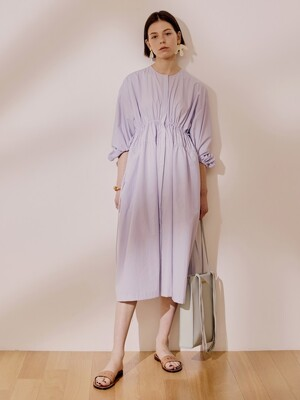 Double String Gather Dress_Lilac