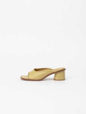 Souple Soft Mule Slides in LineLight Yellow