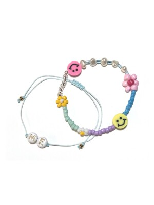 Shiny Flower Bracelet SET 7