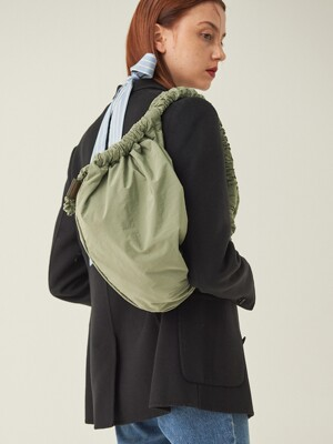 scrunchie bag(Oslo green)