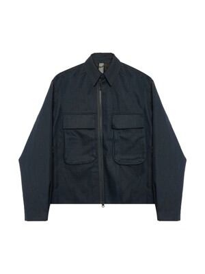 2POCKETS SHIRT JACKET / BLUE GREEN