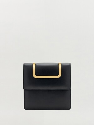 HANDEE Bag with pearl strap - Black
