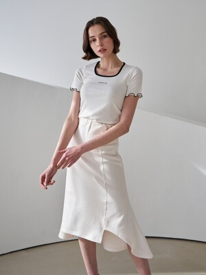 T11-UNBAL TRAINING SKIRT IVORY