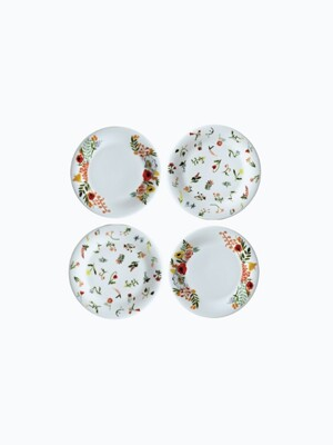 language of flowers 8inch plate SET (4pcs)