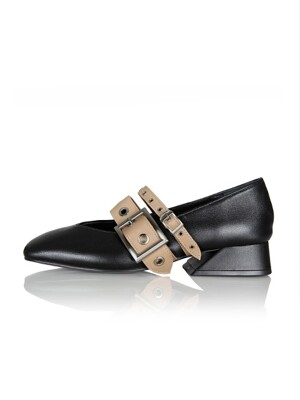 Annette loafer / YA6-F071 / Black+Beige