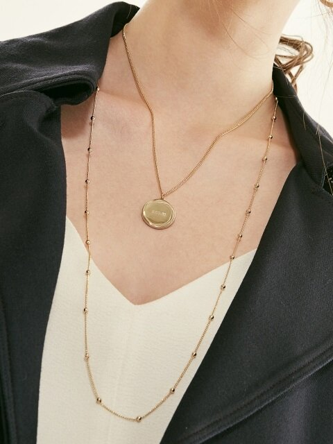 CHAIN BALL LONG NECKLACE (2 colors)