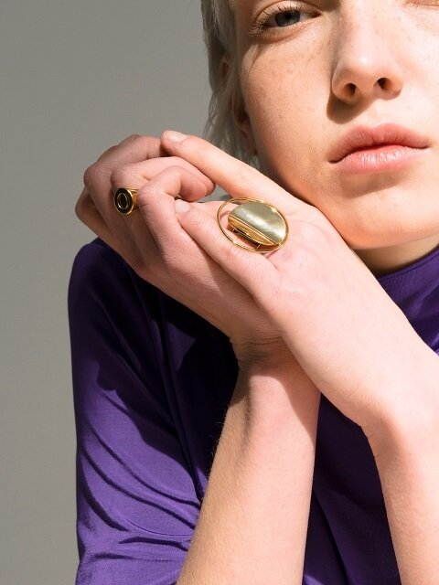 Full Moon Ring_Gold
