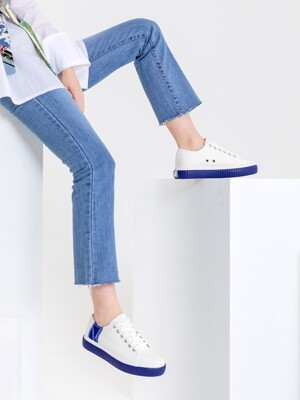 [Fellas Studio] Silhouette Lo White / Royal Blue WOMEN