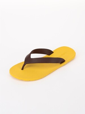 [WOMEN] Flipflop, Yellow-Chocolate
