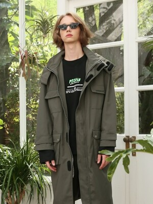 UNISEX POCKET FISHERMAN COAT KHAKI