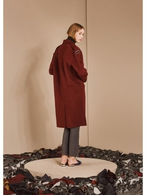 LONG EPAULETTE HANDMADE COAT_RED