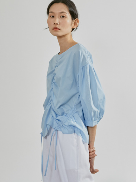 19SR STRING BLOUSE (SKY BLUE)