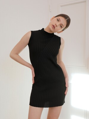 Diagonal Knit Dress