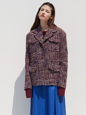 TWEED JACKET_PURPLE