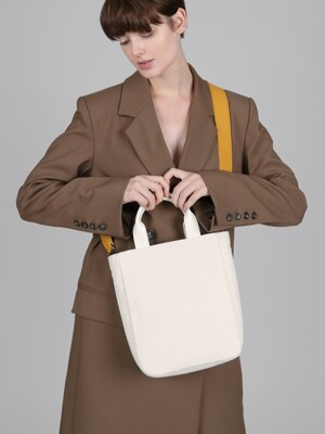 canvas catch bag_ivory