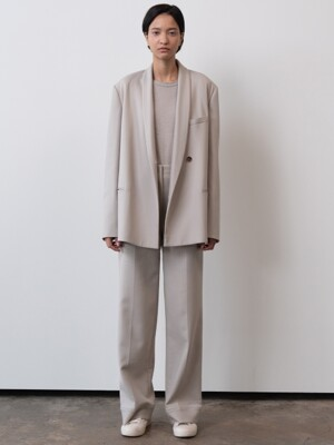shawl collar jacket (stone)
