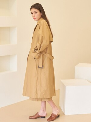 DOUBLE TRENCH COAT BEIGE