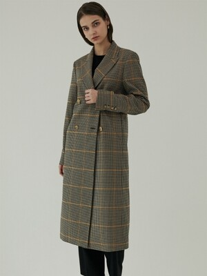 Carmen coat delicate checked