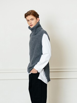 VEST TURTLENECK KNIT