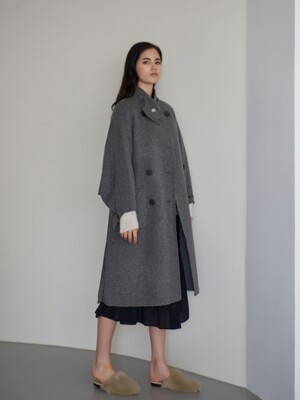 [단독] OVER FIT DOUBLE HIGH NECK HANDMADE COAT