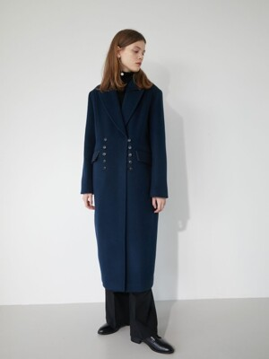 19' WINTER_CLASSIC NAVY PEAKED COLLAR COAT