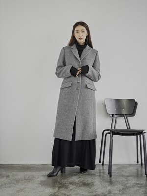 [EXCLUSIVE] Clo evie herringbone single coat