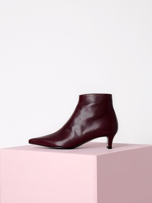 [리퍼브][245]POINTED ANKLE BOOTS - WINE