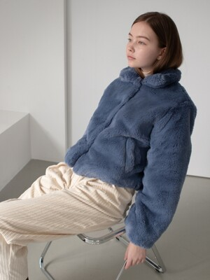 Bonne Fur Jacket - Blue
