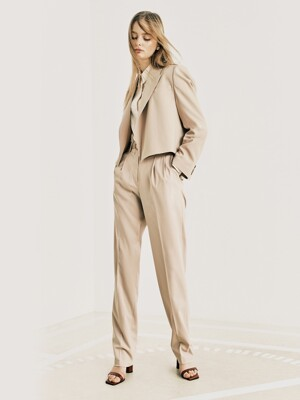 straight leg pants (w/ belt) JWSLKC0200