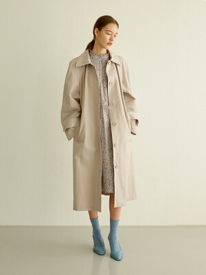[단독] LOOSE FIT TRENCH COAT WARM GREY