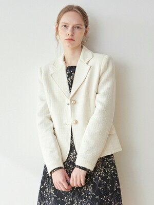 BELLA PEARL CROP JACKET_CREAM